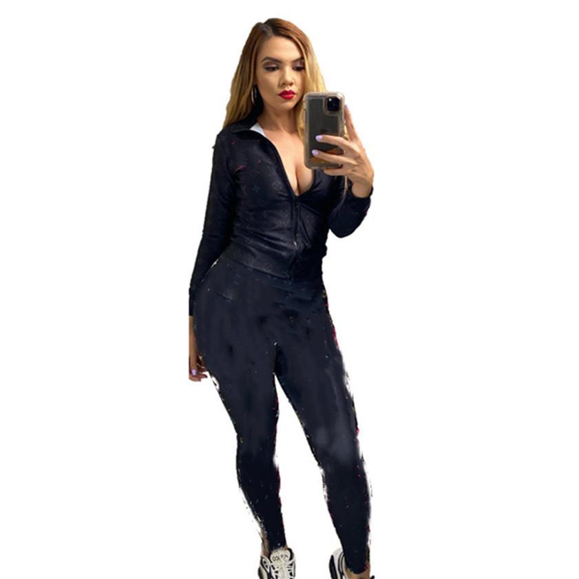 Abiti da due pezzi Designer Designer Donne Sweatstasuis Jogger Suit da donna TrackSuits Fall Winte Vestiti Giacca a maniche lunghe + Leggings 2XL Sportswear 4175