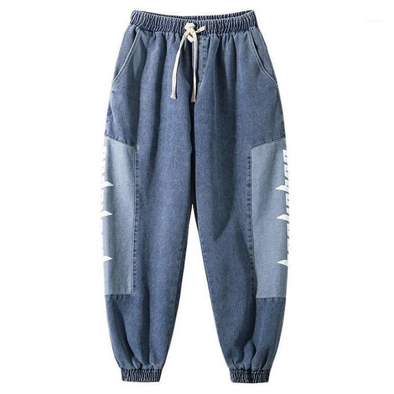 Harem pantalones hombres holggy jeans 2020 otoño casual masculino pantalones de carga sueltos al aire libre calle la cintura elástica hombres pantalones harem1
