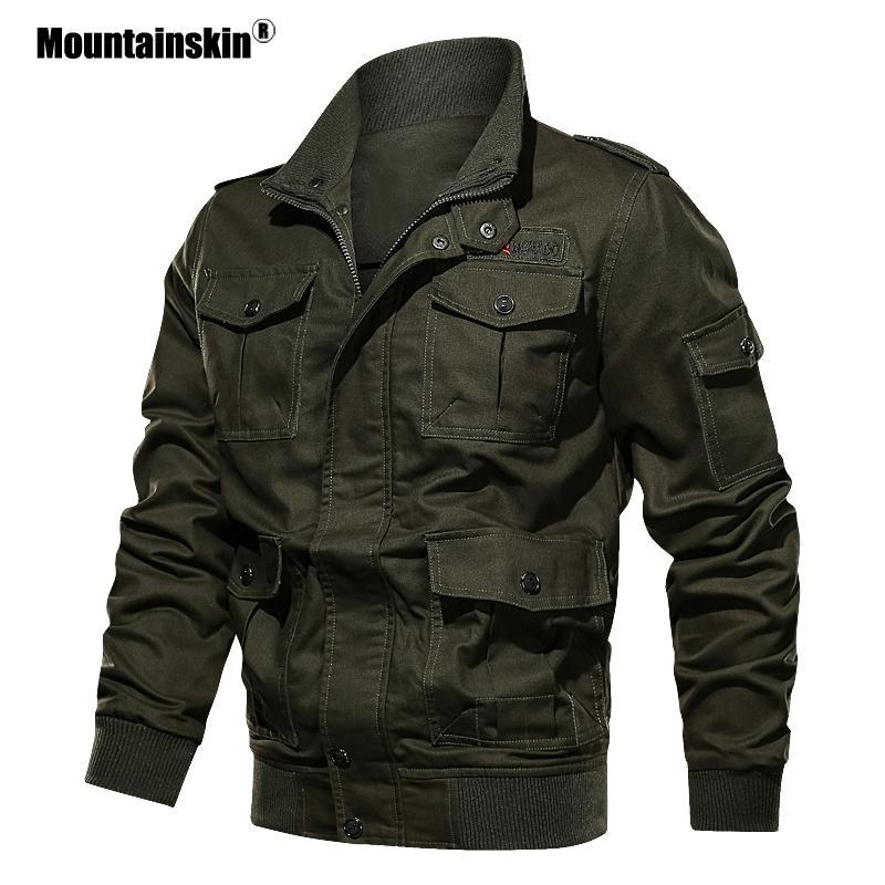 Capa de la chaqueta militar de Primavera Otoño Mountainskin 2020 nuevos hombres del Ejército de abrigo casual masculino chaquetas para hombre Ropa de la marca 6xl Sa706