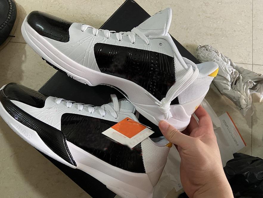 2021 أسود مامبا 5 بروس لي أطفال أحذية للبيع مع مربع جديد أفضل كرة السلة عارضة الأحذية متجر