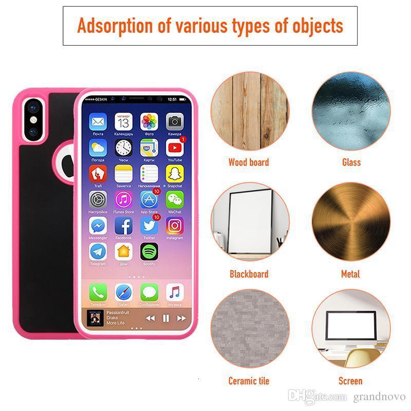 Анти-осень против гравитационного селфи адсорбция волшебный нано липкий охват твердый чехол для телефона XS MAX XR X 8 7 6 PLUS SAM SUNG S10 E S9 S8 S7 ПРИМЕЧАНИЕ 9