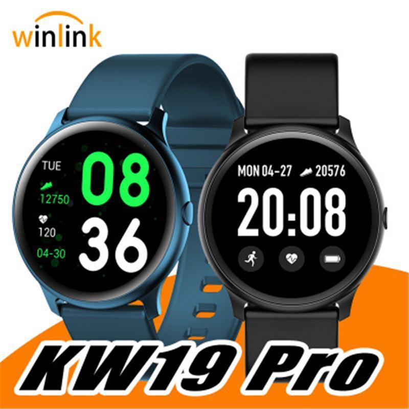 KW19 Smart Watch Frauen Herzfrequenzmonitor Multi-Sprachen IP67 Wasserdichte Männer Sport Smartwatch Fitness Tracker für Android IOS
