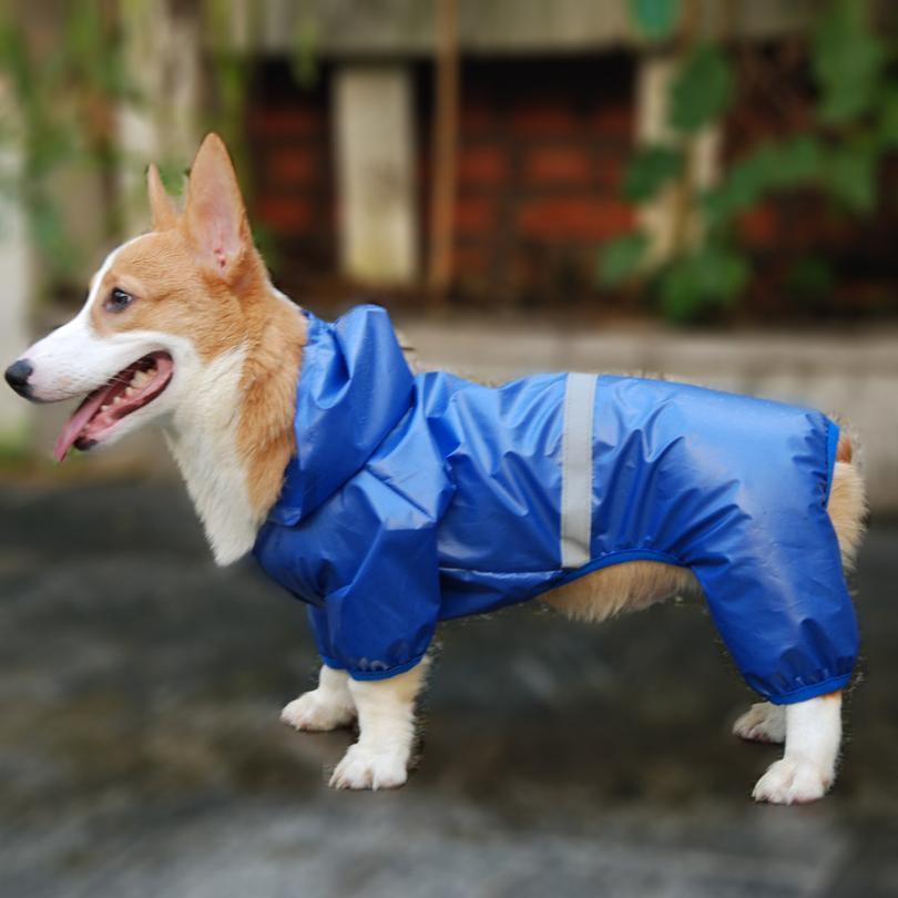 Perro mascota impermeable impermeable impermeable jumpsuit reflexivo lluvia abrigo sol protector solar perro ropa de ropa al aire libre para el perro pequeño mascota jllnbx