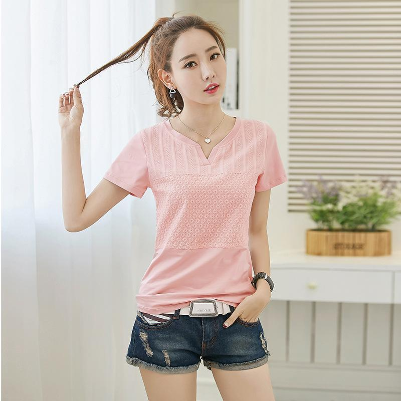 2021 mujeres algodón moda algodón damas camiseta camiseta de manga corta camiseta
