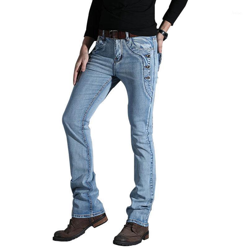 Мужские джинсы 2021 брюки брюки брюки разрезной тонкий тонкий летний повседневный мужской джинсовый бизнес Spring1