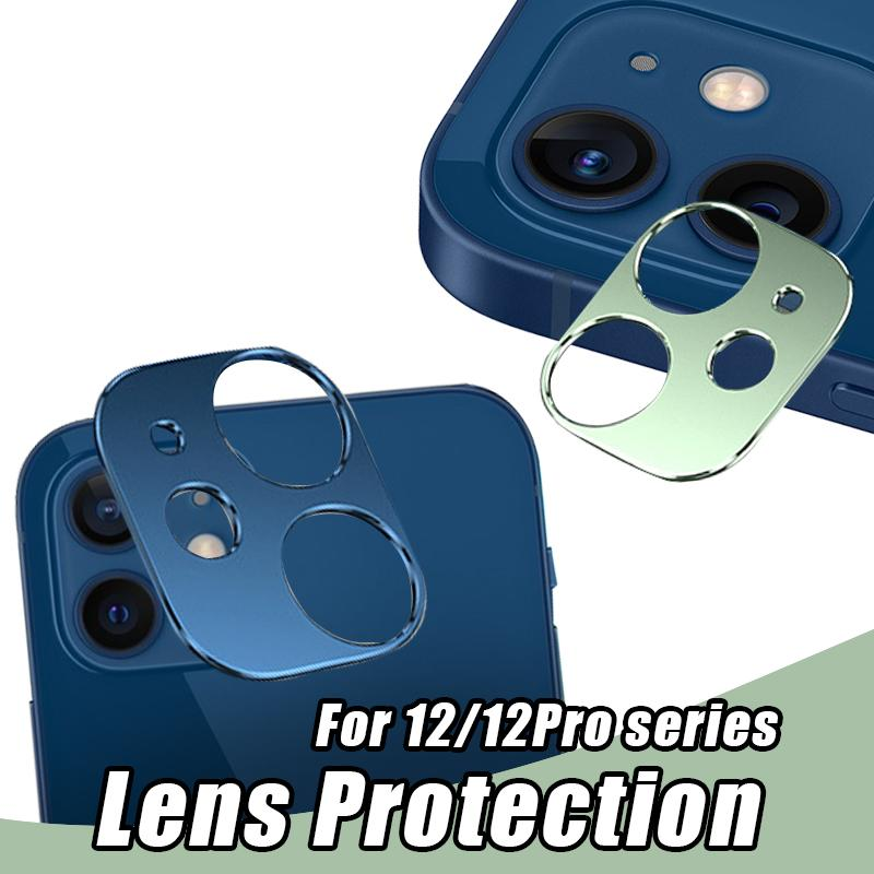 For iPhone 12 Series Alloy Camera Lens Protector Tempered Glass Full Curved Colorful Camera Protector Film with Retail Package