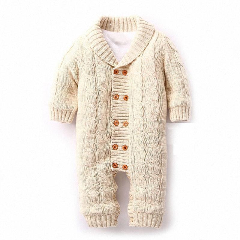 Großhandels-Heißer Verkauf 0-18M Neugeborene Baby-Kleidung-Mädchen-Jungen Winter Herbst Warm verdicken Kleidung Body Fest Unisex Roupa De Menino 1632 XXOd #