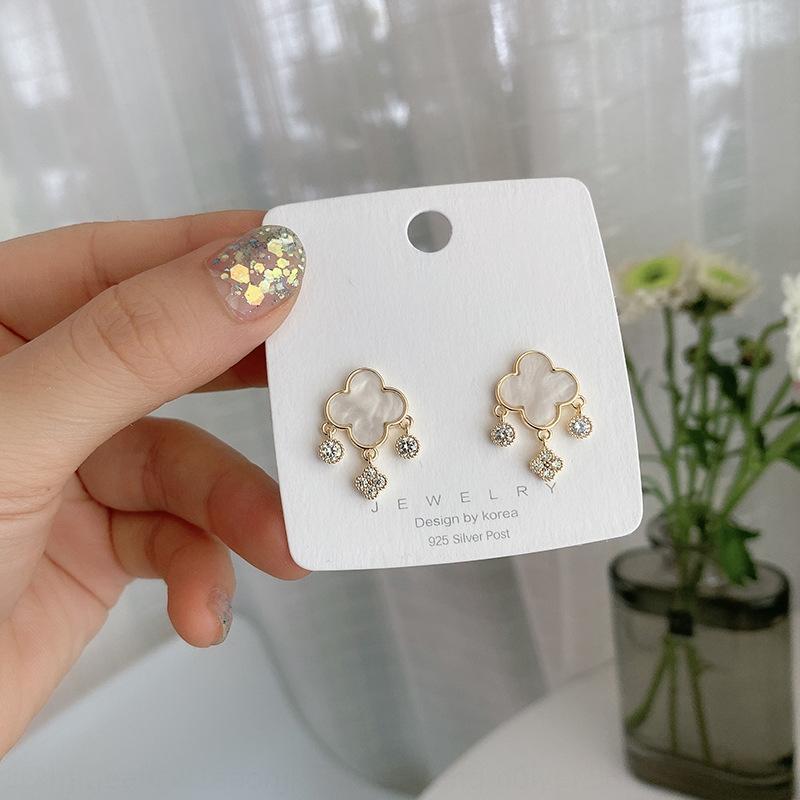 XiFbr New personalizado forma geométrica Nacional de diamante moda Brincos líquidos minoritários temperamento vermelho incrustado com diamantes simples bri