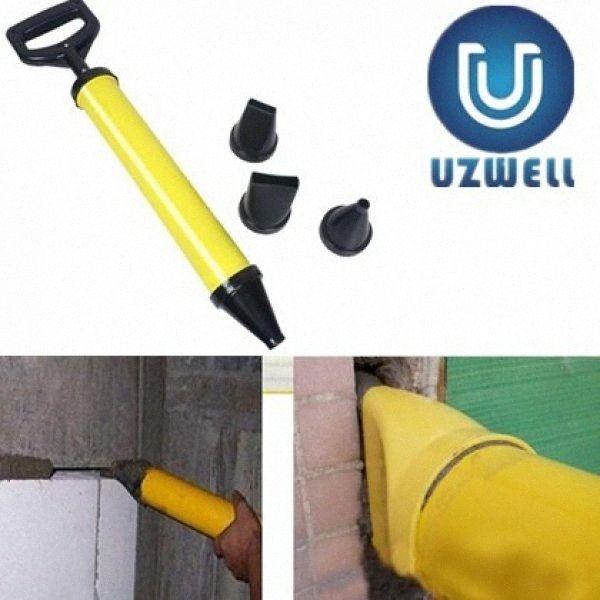 Pistolet à calfeutrer Mayitr pointage Brique jointoiement mortier Pulvérisateur applicateur outil pour la chaux de ciment avec 4 EQdx # Nozzles