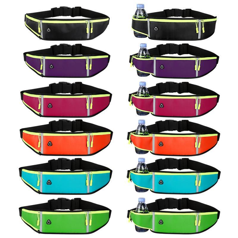 Светоотражающие Унисекс БЕГОВОГО сумка Спорт талии сумка пакет путешествия Беговая талии пакет Gym Fitness Phone Bag