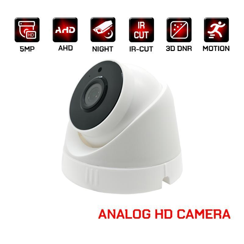 AHD cámara interior de la bóveda de seguridad de vigilancia con cámaras HD de 2MP 4 MP 5MP 1080P vídeo CCTV analógico para el hogar visión nocturna por infrarrojos