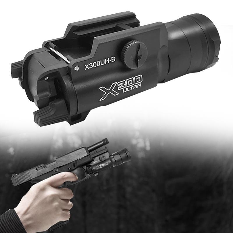 Tactical X300 Переключатель давления Светодиод 552 Света Pistol Lanterna Airsoft Фонарик с пикатинними рельс для охоты