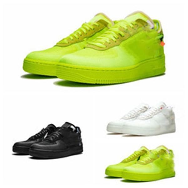 2019 قبالة أفضل جودة أبيض / أخضر / أسود × منخفضة 1 عشرة أوروبا فولت 2.0 MCA شيكاغو فيرجيل مسحوق UNC كرة السلة أحذية رياضية الحجم 36-45
