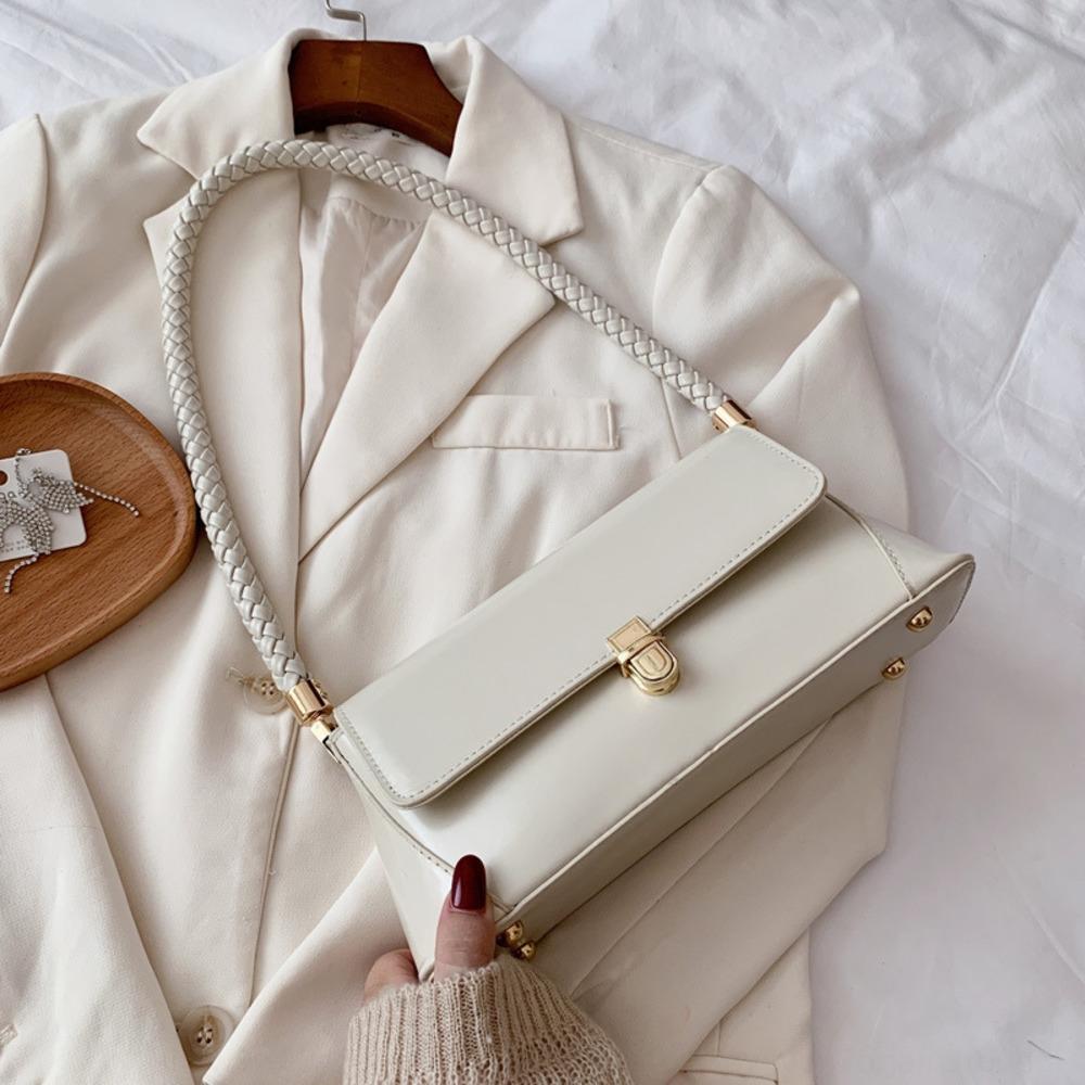 main bandoulière en cuir PU 2020 Mode féminine coréenne minorité française française aisselle sac à bandoulière mode automne sac bâton moq3J