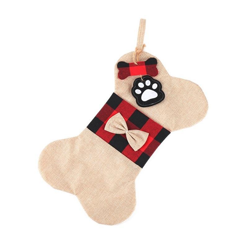 Ornamenti natalizi 2020 calze albero decorazioni albero decorazioni regalo borsa da regalo bagable calzini di modo osso ingombro animali domestici 11 5yw f2