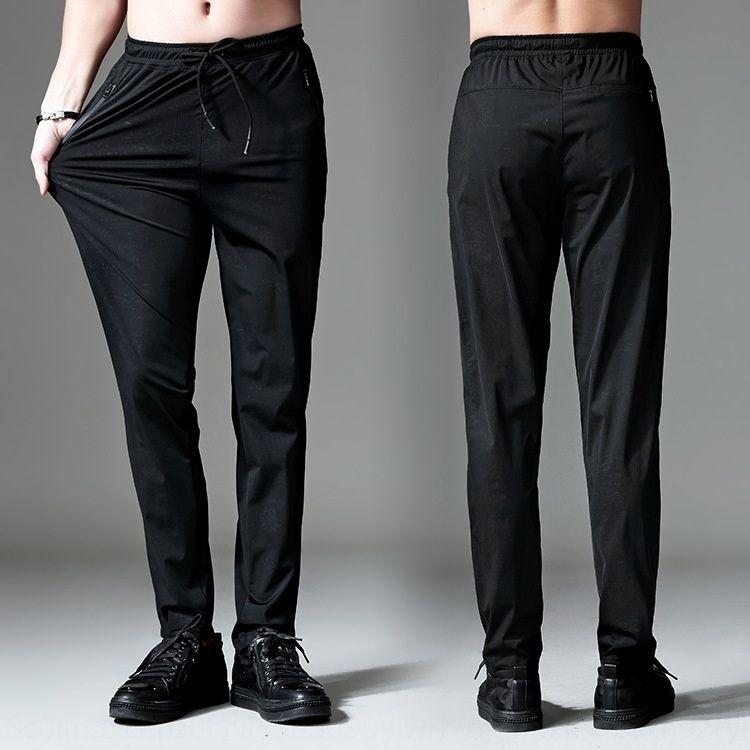 KQD9r esportes de verão nova calça casual pantsslim fina NlHrP casual calças desportivas de grandes dimensões masculina de 9025 homens