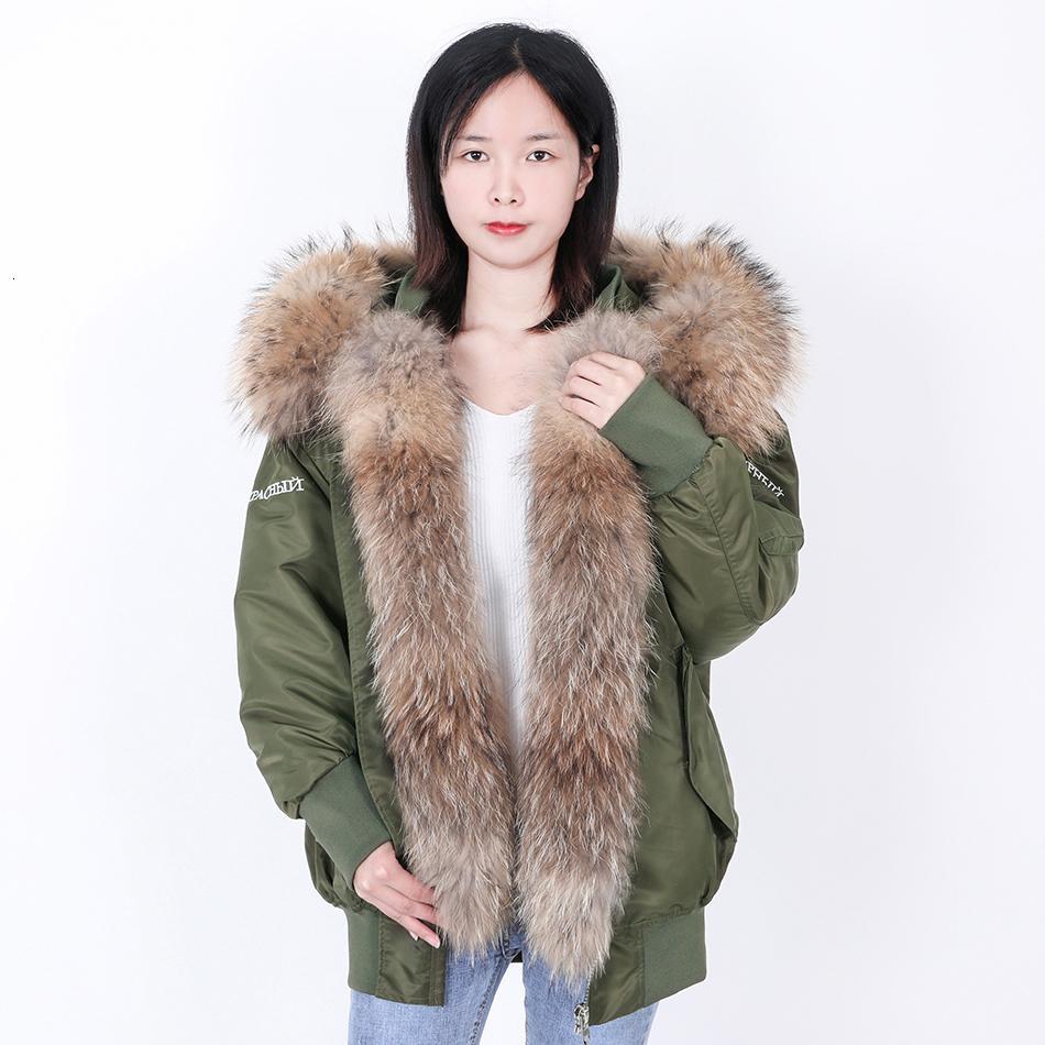 2021 Подлинная новая кожа енота, свободная элегантная, съемная подкладка с горячей вышивкой 6JZ8
