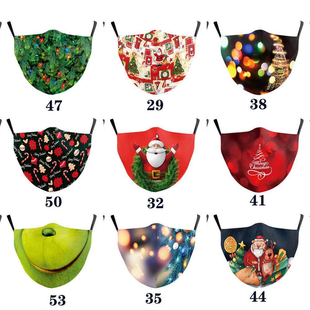 IPP6 maschera protettiva stampa digitale per adulti Natale filtro lavabile PM2.5 decorazione di Natale fas