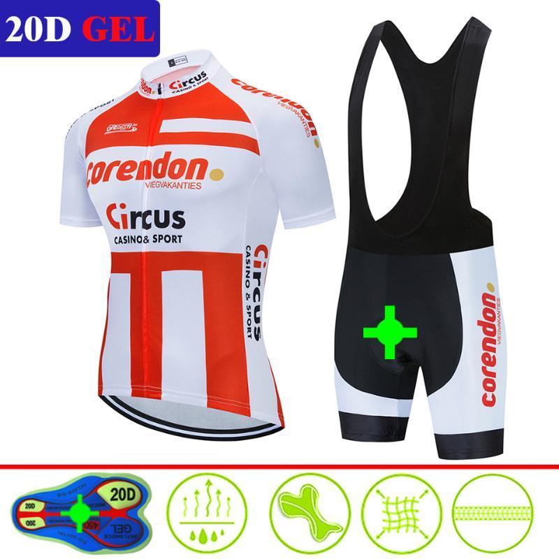 2020 Corendon Ciclismo Set Homens Jersey Ciclismo manga curta roupa de bicicleta Kit Mtb Bike Wear Triathlon Uniforme