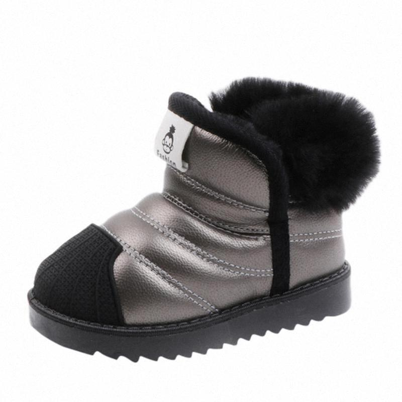 2019 Yeni Çocuk kar botları sıcak Kış Boots Moda Peluş Bebek Ayakkabı Su Geçirmez Spor ayakkabılar Kız Erkek Bırak 10 Gg84 #
