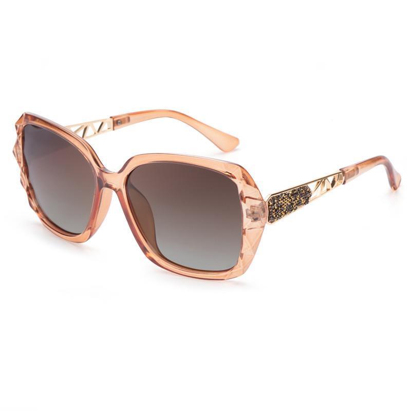Мода Rhinestone солнцезащитные очки старинные площади поляризованные очки ВС Оттенки для женщин Роскошные очки вождения пляж путешествия очки