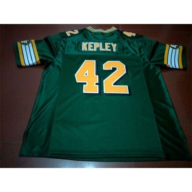 Benutzerdefinierte 121 Jugendfrauen Vintage Edmonton Eskimos # 42 Dan Kepley Football Jersey Größe S-4XL oder benutzerdefinierte Name oder Nummer Jersey