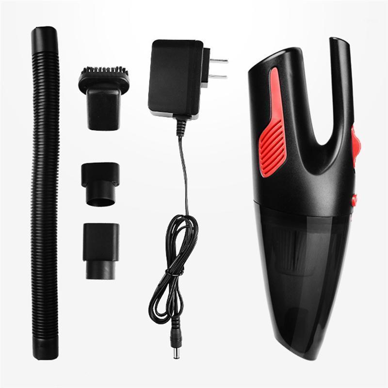Limpiador de polvo de la suciedad del plumero de la mano del coche Limpiador de polvo de la aspiradora con la carga inalámbrica seca ligera (conector estadounidense) 1