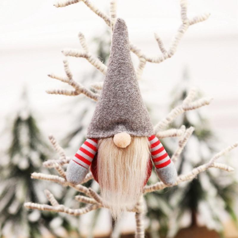 Don bonecas de pelúcia de Natal Árvore de Natal Artesanal Desenhos Animados Nissse Suspensão Decorações Xmas Festivo Mesa De Ornamento De Ornamento EWD2258