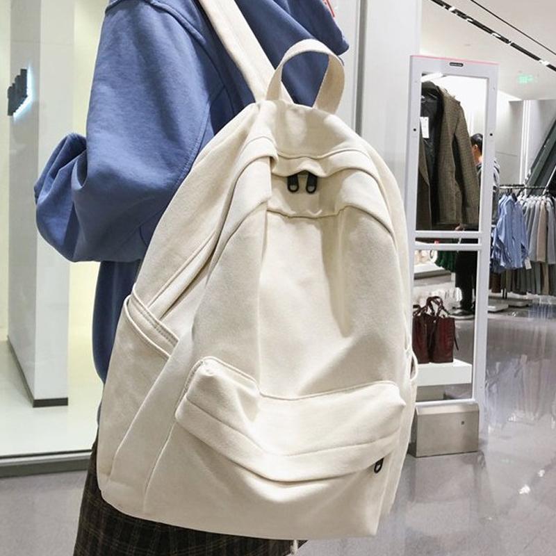 JOYPESSIE Fashion Female Bookbag Cotton Women Backpack for Teenagers Girl College Men Black School Bag Student Mochila Q0112