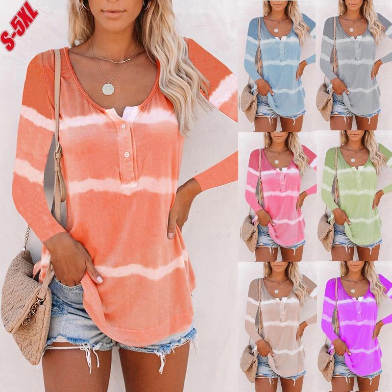 Chinesischer Großhandel Frauen Sexy Verkauf Mode Langarm Hemd 8 Farben 8 Größen Weibliche T-Shirts 23779