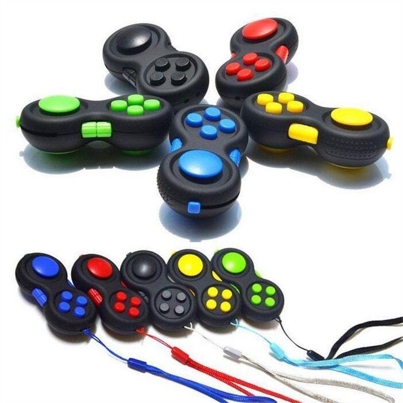 Fidget Pad Controller Cubo Decompressione Maniglia Sensorio Sensoriale Puzzle Game Fidget Giocattolo per bambini Stress Stress Giocattoli educativi