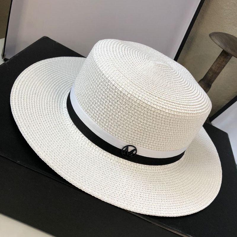 21ss Stripes Hierbas Sombrillas Sombrillas Sol FSHION Holiday Holiday Sombrero Para Mujer Amplia Sombreros Sombreros de Alta Calidad Sombrero Tide Pescador Pescador Sombreros Planos