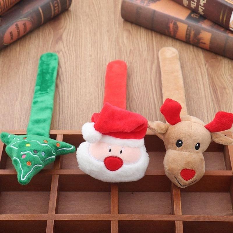 Poupée lumineux Cadeau mignon de Noël Slap Bracelets Noël Wristband Père Noël / Arbre / renne Décoration de Noël Décoration Vente en ligne koXd #