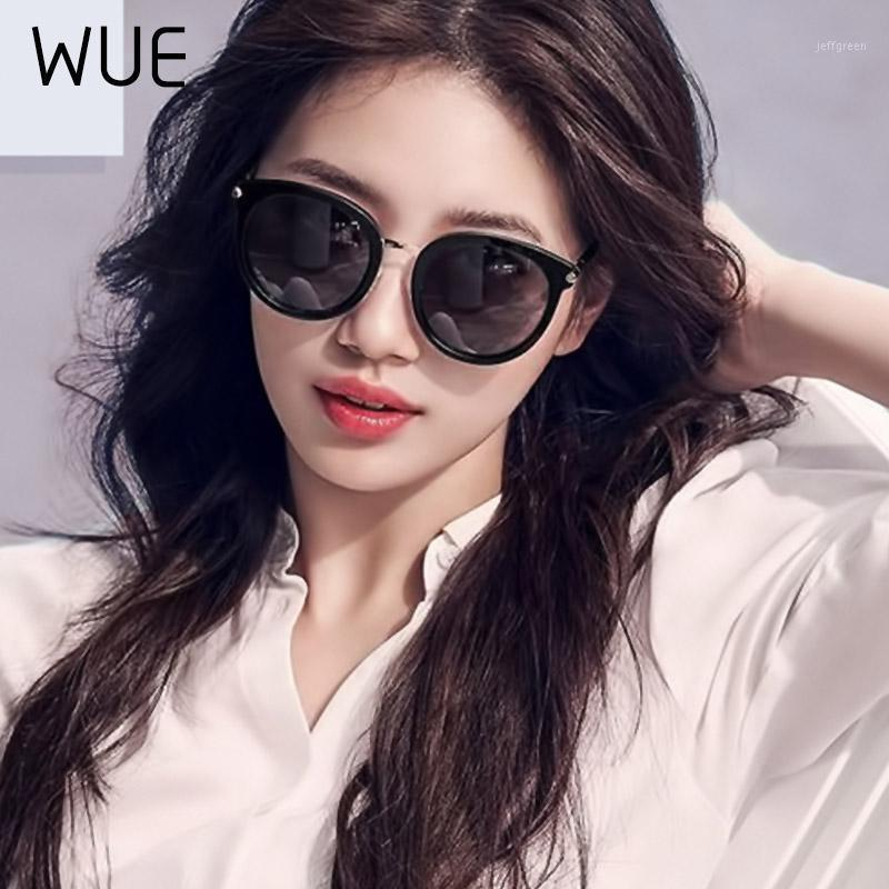 Wue 2020 Мода Солнцезащитные очки Женщины Вождение Зеркала Винтаж Для Женщин Светоотражающие плоские Линзы Солнцезащитные Очки Женские Oculos UV4001