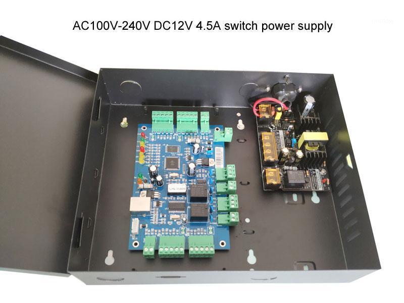 Controle de Acesso Digital Control TCP IP Dois Porta Controlador Kit com Capa de Potência 110V / 220V Função Multi-Acesso Função Alarme de Fogo.SN:B02-set1