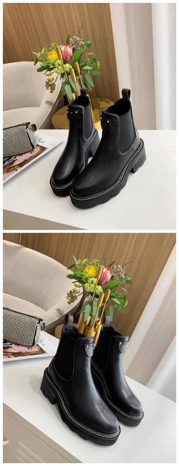 Mejores botas CALIDAD BEAUBOURG tobillo Zapatos de mujer botas de invierno muchachas de las señoras de seda de la piel de vacuno de alta Top para mujer plana del cargador del tobillo
