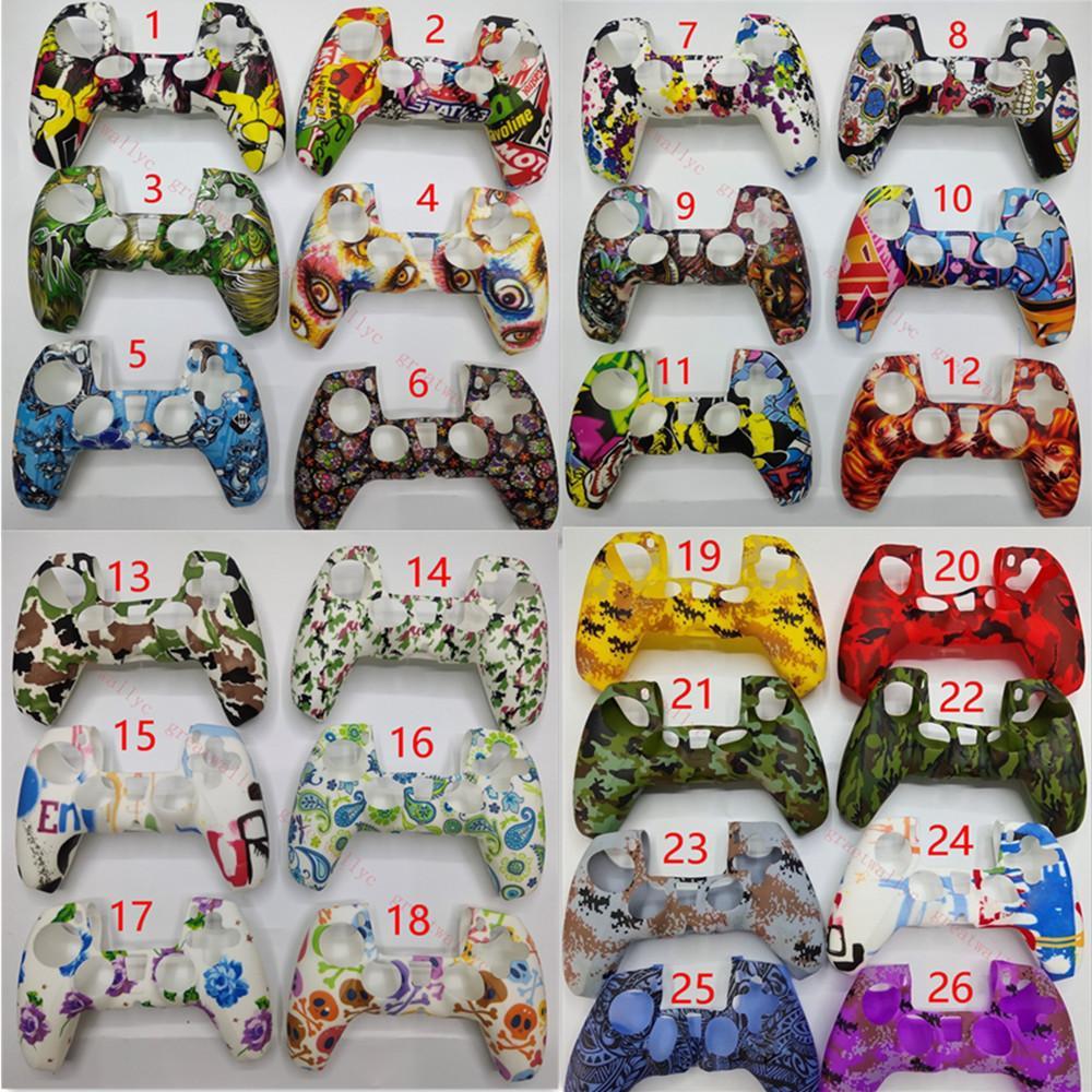 PS5 플레이 스테이션 (26) 컬러에서 주식을위한 새로운 게임 컨트롤러 스킨 소프트 젤 실리콘 보호 커버 고무 그립 케이스