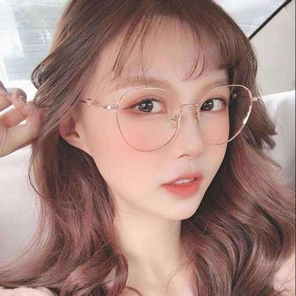 Высокое качество же влюбленные влюбленные сеть красные корейские очки миопии мода плоский линз
