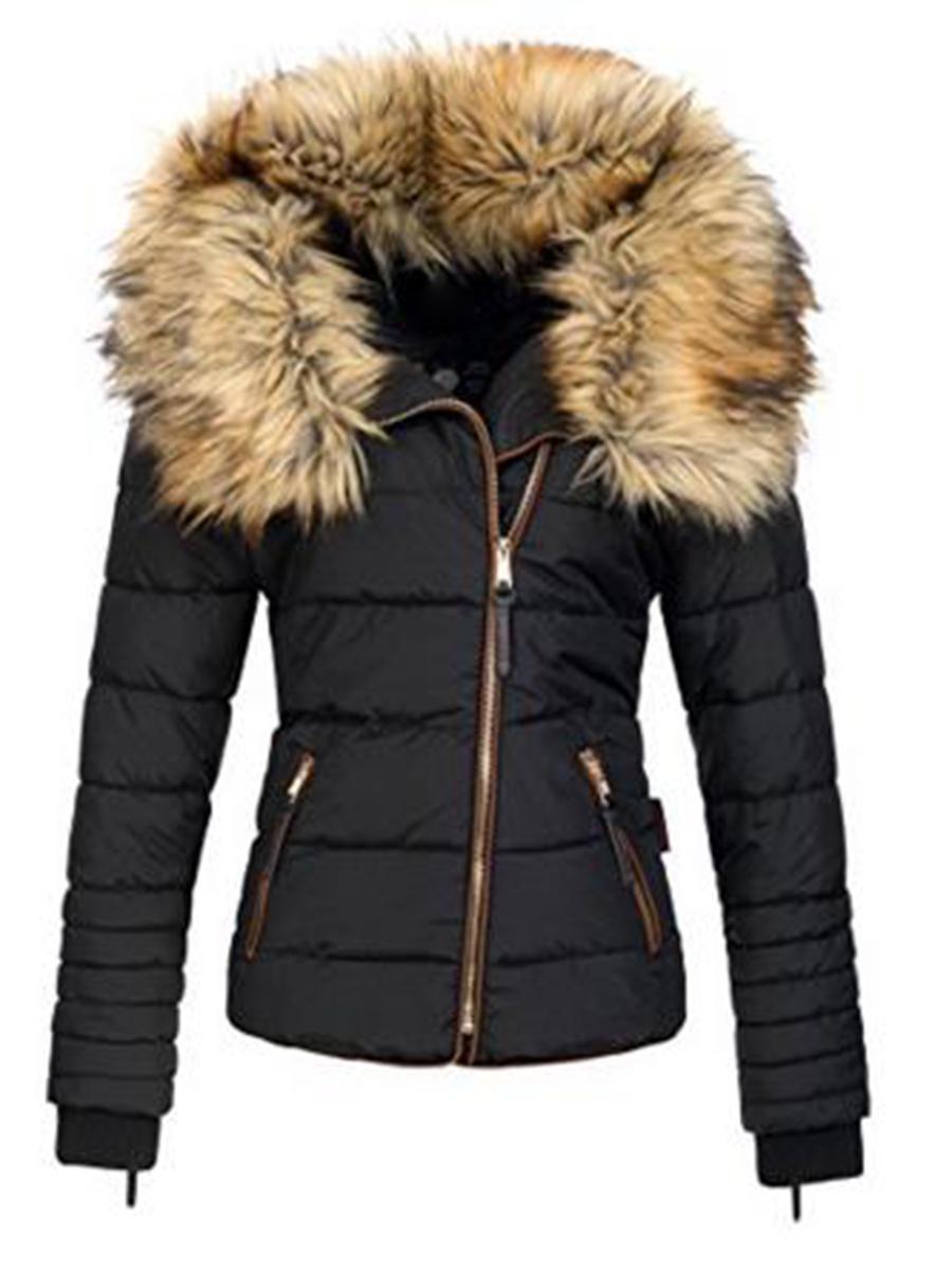 Nuovo parka femminile inverno delle donne del rivestimento del cappotto di ispessimento di cotone invernale nero Faux Fur Outwear parka caldo per l'inverno cappotto 201019