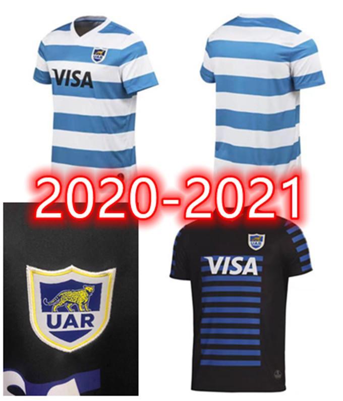 2020 2021 Nouvelle Argentine Home and Away Rugby Jerseys Équipe nationale Argentine Uar Jerseys Livraison Gratuite