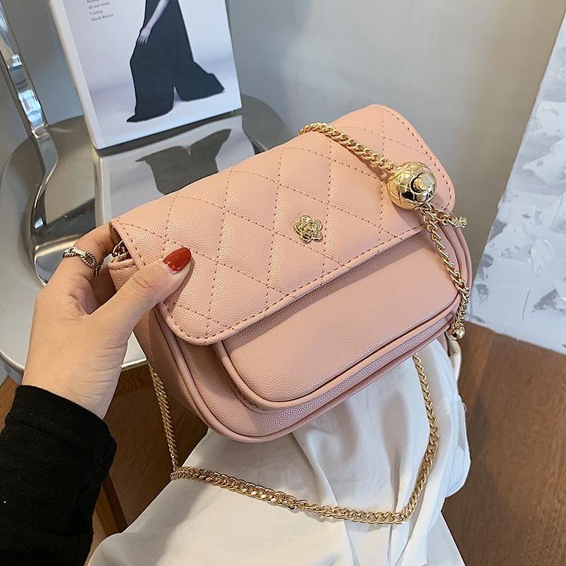 Cadena de cuero de la solapa de celosía clásica 2021 New Crossbody High Bag High Bolso Mensajero Moda Hombro Diseñador de Hombro Calidad RQECQ