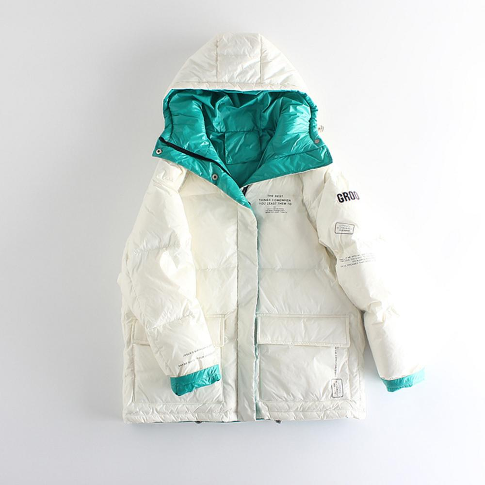 2020 verdicken warme Parkas Weiße Ente Daunenjacke weiblich Loose Women Mantel Wintermantel