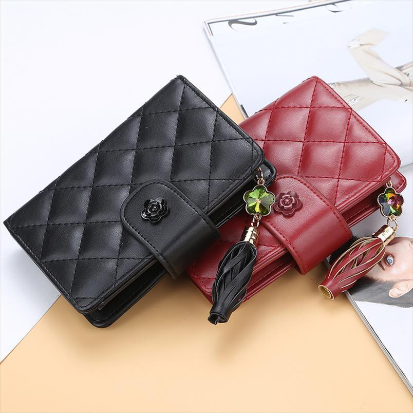 Purse Brand Wallet Coin Leather Card With Wallet Plaid Woman Female Zipper Fashion PU Women Purses Holder Women Purse Cogao
