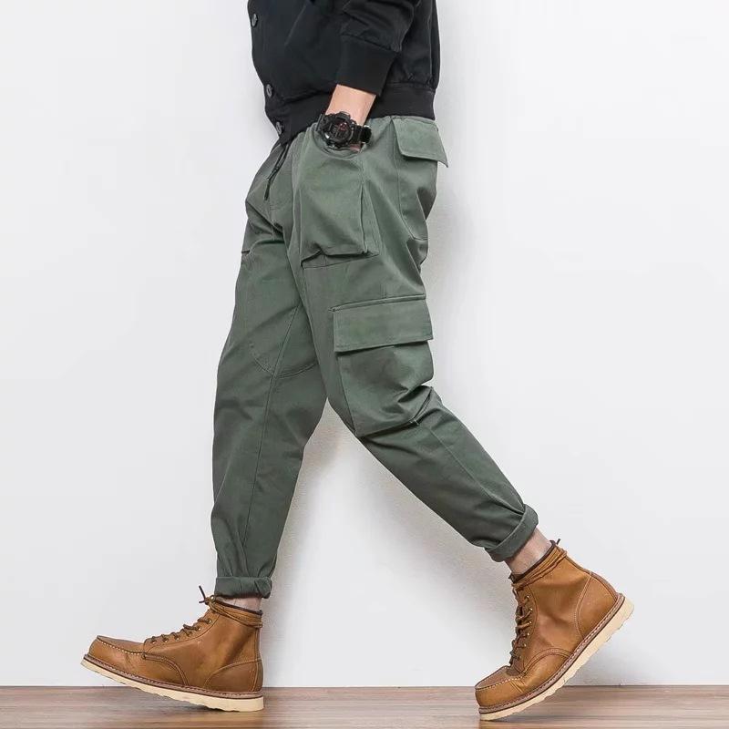 Bib Общая мужская мульти-поэтов ULAR бренд осенний луч ноги мужская повседневная хип-хоп гарем брюки оптом1