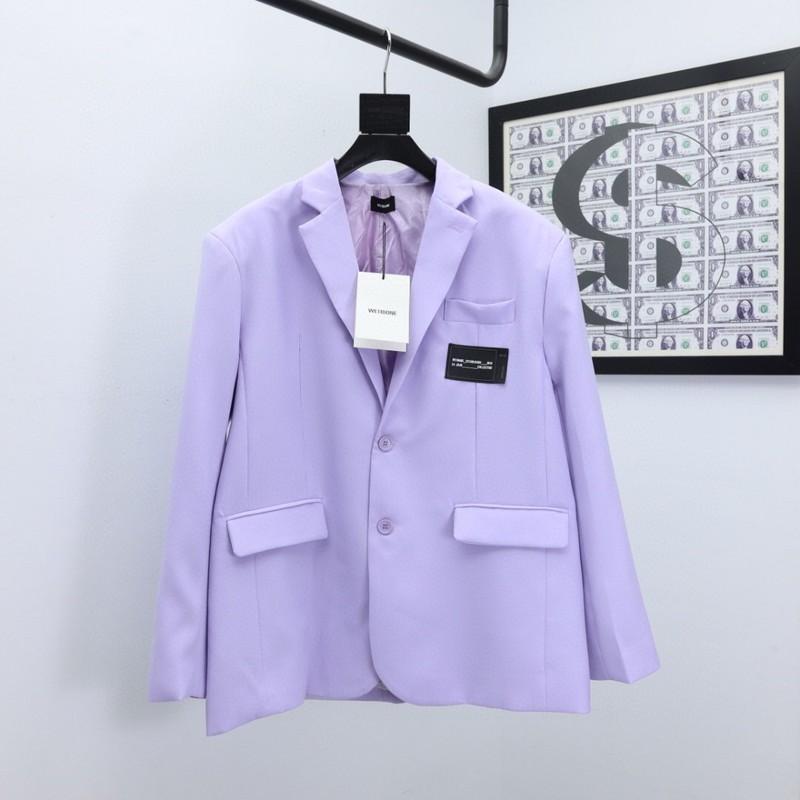 2021AWss Petto Ribbon ricamo Blazer donne gira-giù il collare viola Giacca Bottone Donne Due Suit