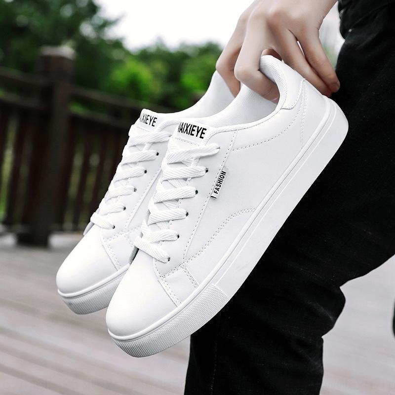 YXxLl printemps 2019 nouvelles petites chaussures polyvalentes hommes Chaussures de société tableau blanc coréenne occasionnels hommes blancs de mode studentsshoes