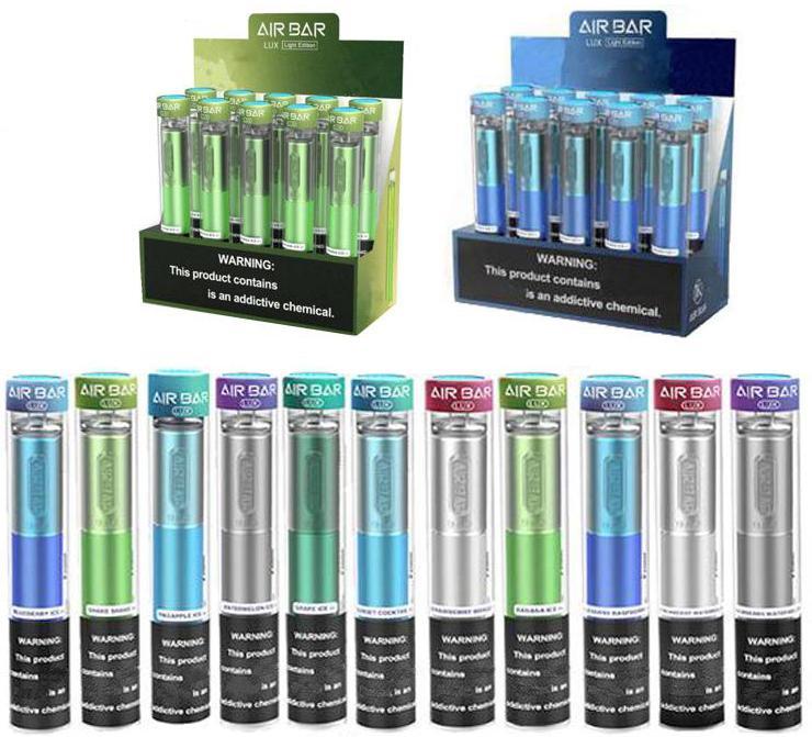 Barre d'air lux jetable stylos de Vape Pods Device Airbar 650MAh Batterie 1000 bouffées Puff bar jetable Vape Vape ECIG ECIG jetable