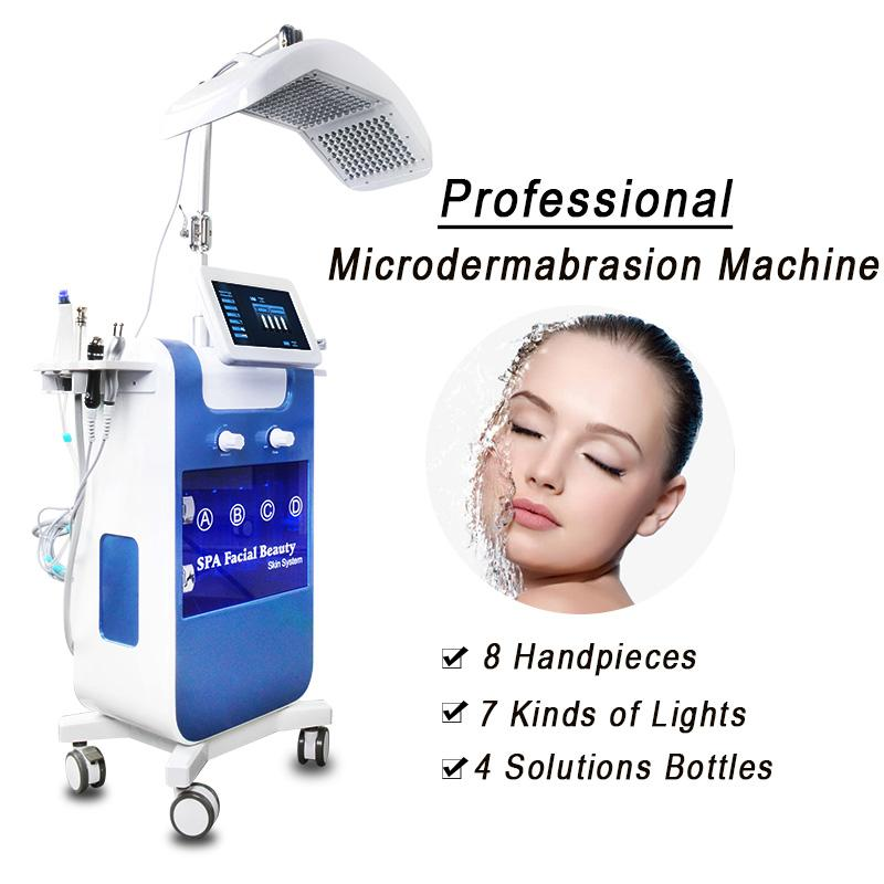 Hydra Facial 8 em 1 Diamond Dermaabrasão Oxygen Injector para a cabeça de remoção da remoção de cabeça Microdermoabrasão Máquina Hydrafacial