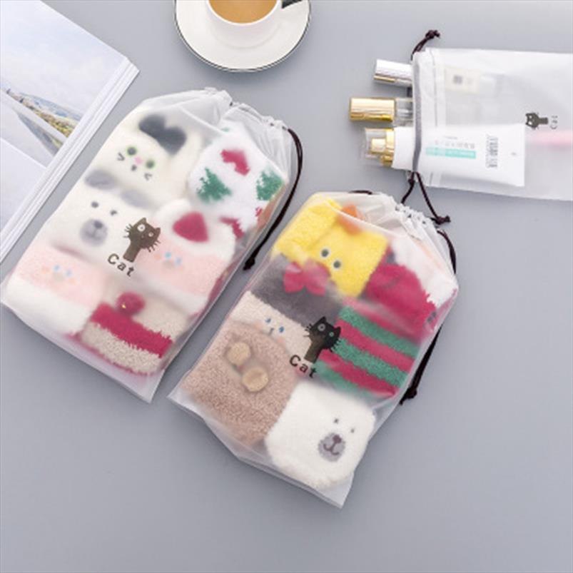 Viagem transparente Cosmetic Cat animal bolsa de maquiagem Caso Zipper Marca Up Bolsa Organizador de Higiene Pessoal Mulheres Wash Bolsa de armazenamento