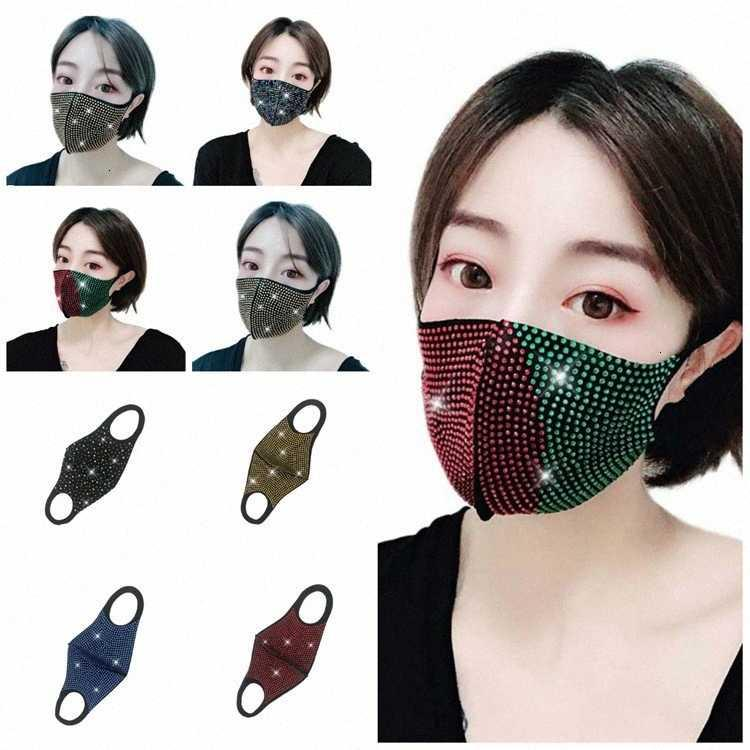 Glittering DustProfile Coloré Visage Masques Personnalité Femmes marée marée 7 Couleur Maison de ménage Masque T2I51006 YVB6 #